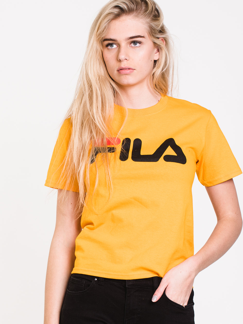 WOMENS BOXY SHORT SLEEVE TEE - GOLD