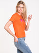 WOMENS BOXY SHORT SLEEVE TEE - ORANGE