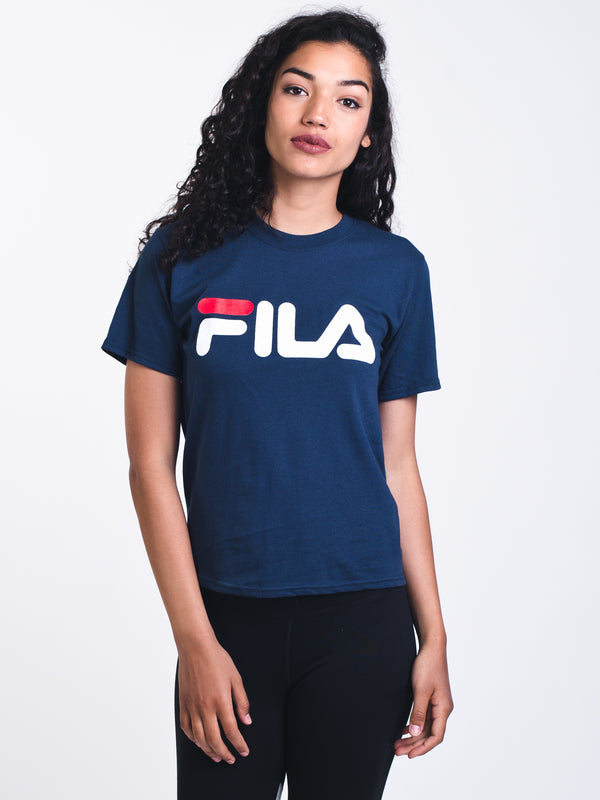 WOMENS BOXY SHORT SLEEVE T-SHIRTEE - NAVY