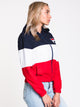 WOMENS LUELLA Woven WIND JACKET - NVY/RED