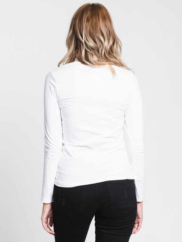 WOMENS YVETTE TURTLENECK - WHITE