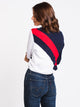 WOMENS AYEKA LONG SLEEVE CROP - NAVY/RED