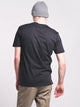 MENS ABYSSMAL PREM SHORT SLEEVE T-SHIRT - BLACK - CLEARANCE