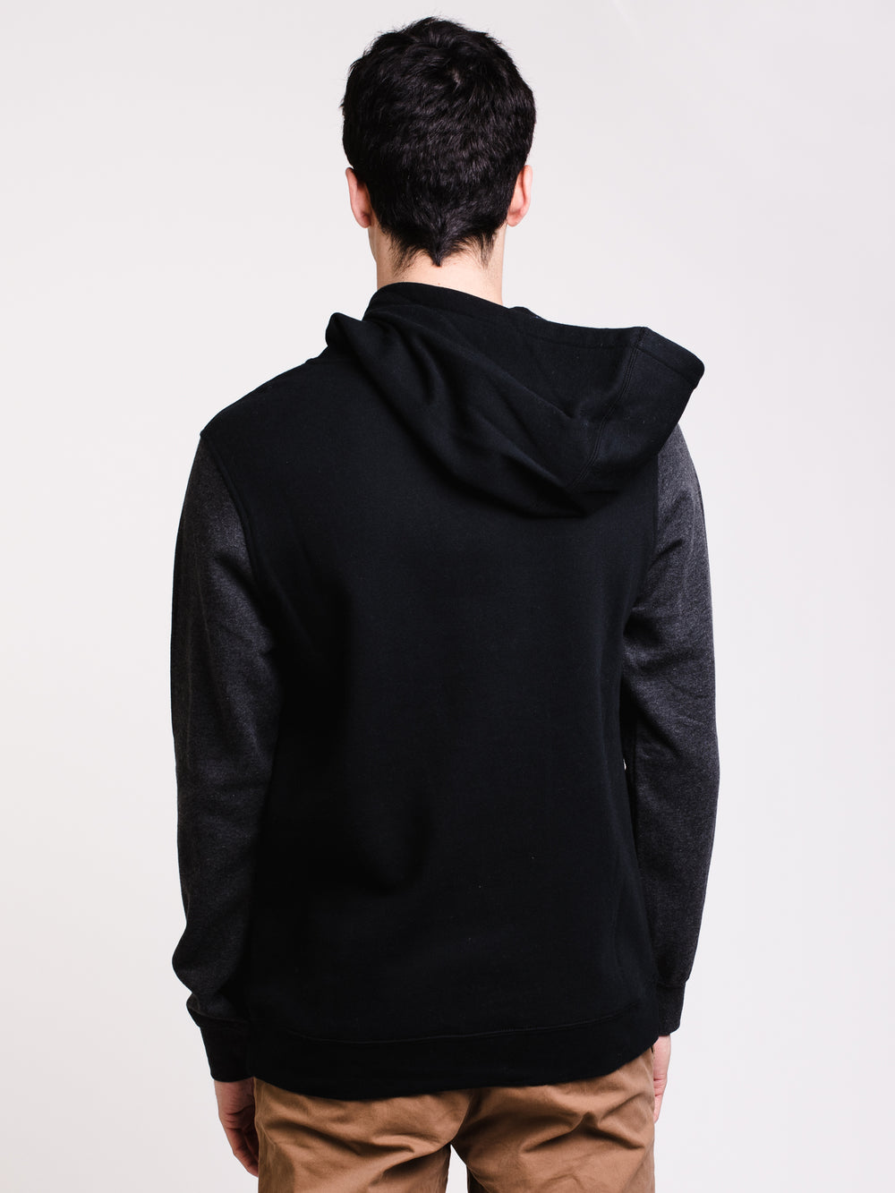 MENS CHECKLIST PULL OVER HOODIE- BLACK