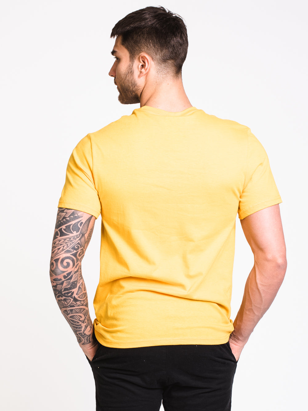 MENS PINNED FHEADX SHORT SLEEVE T-SHIRT - YELLOW