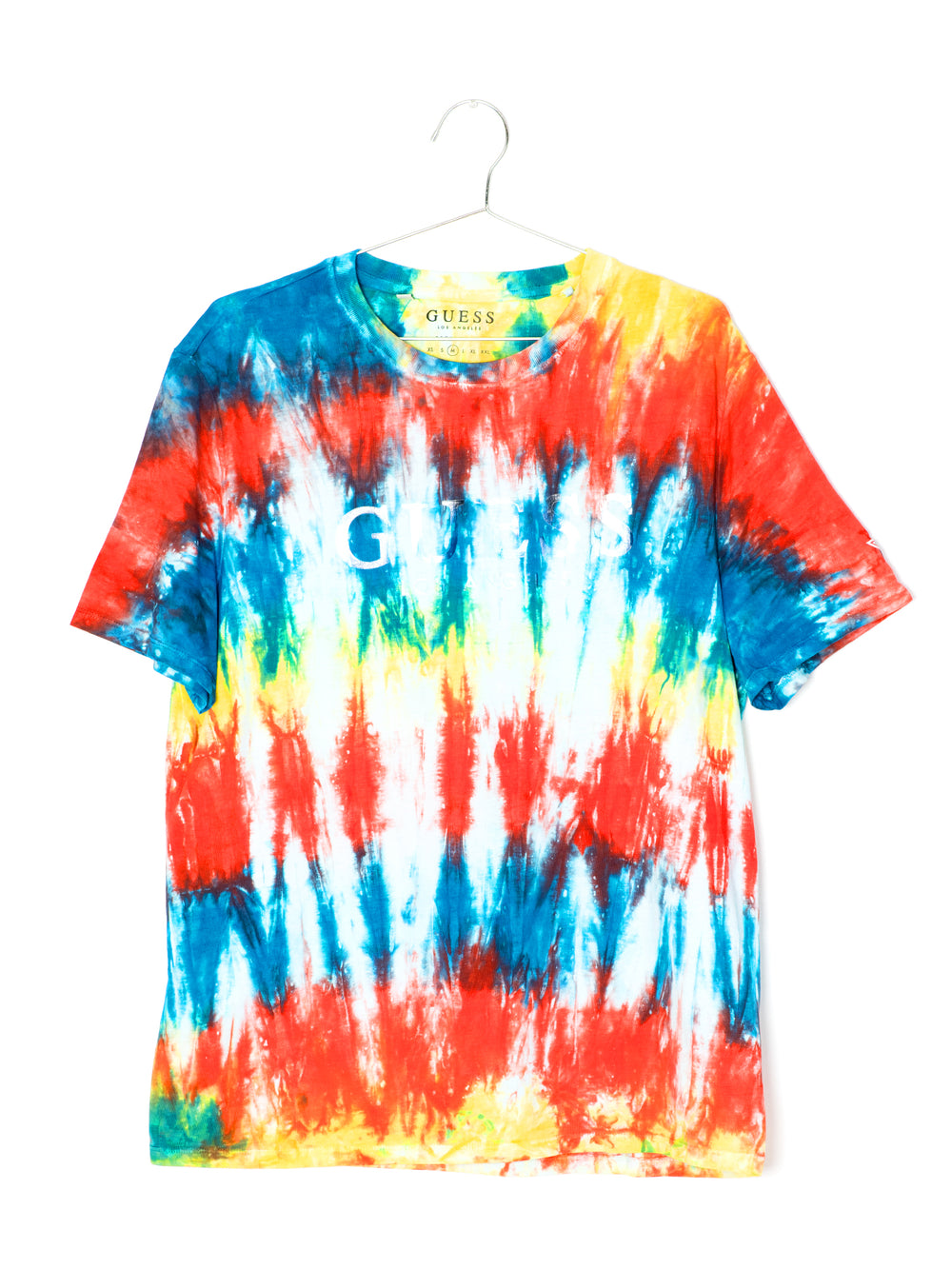 MENS GUESS MULTI TIE DYE S/S T