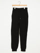 WOMENS FRENCH TERRY LOGO JOGGER - BLK