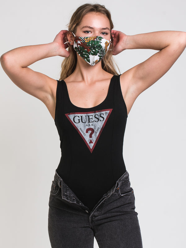 WOMENS TRIANGLE LOGO BODYSUIT - BLK