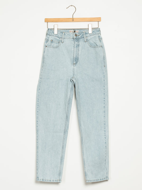 WOMENS HI RISE MOM JEAN - DENIM
