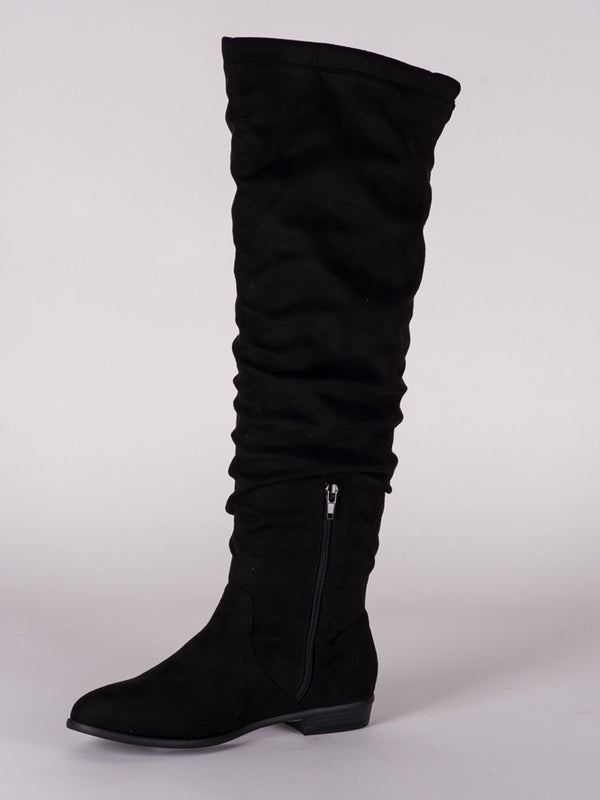 WOMENS POLLY MICROSUEDE TALL BOOT  - CLEARANCE