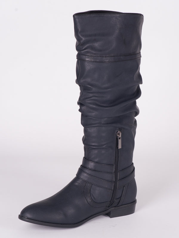 WOMENS TABBY VEGAN LEATHER TALL BOOT - CLEARANCE