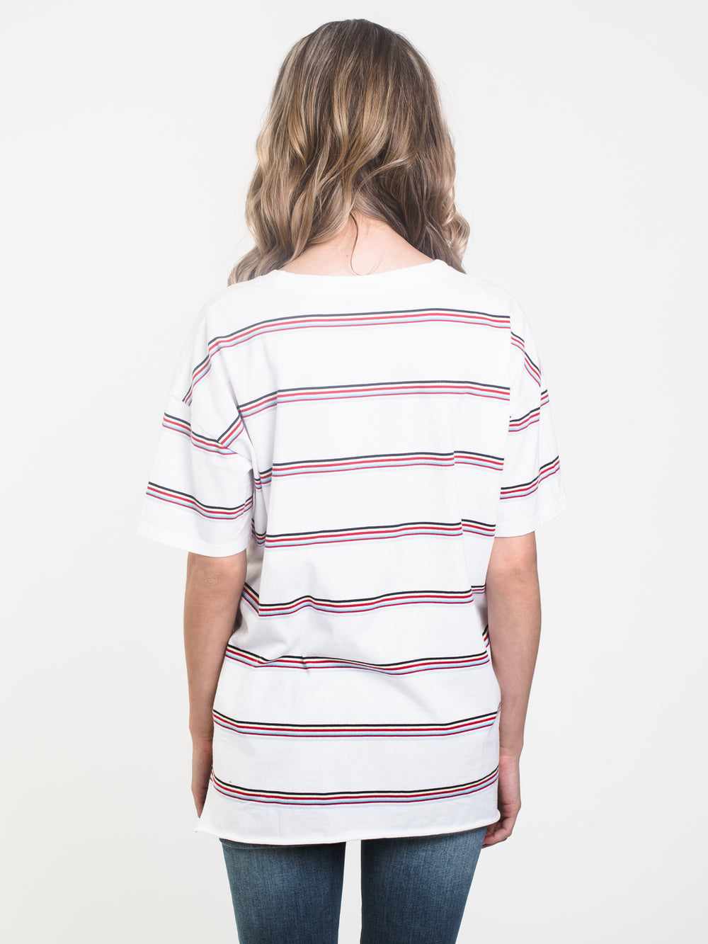WOMENS BOYFRIEND STRIPE TEE