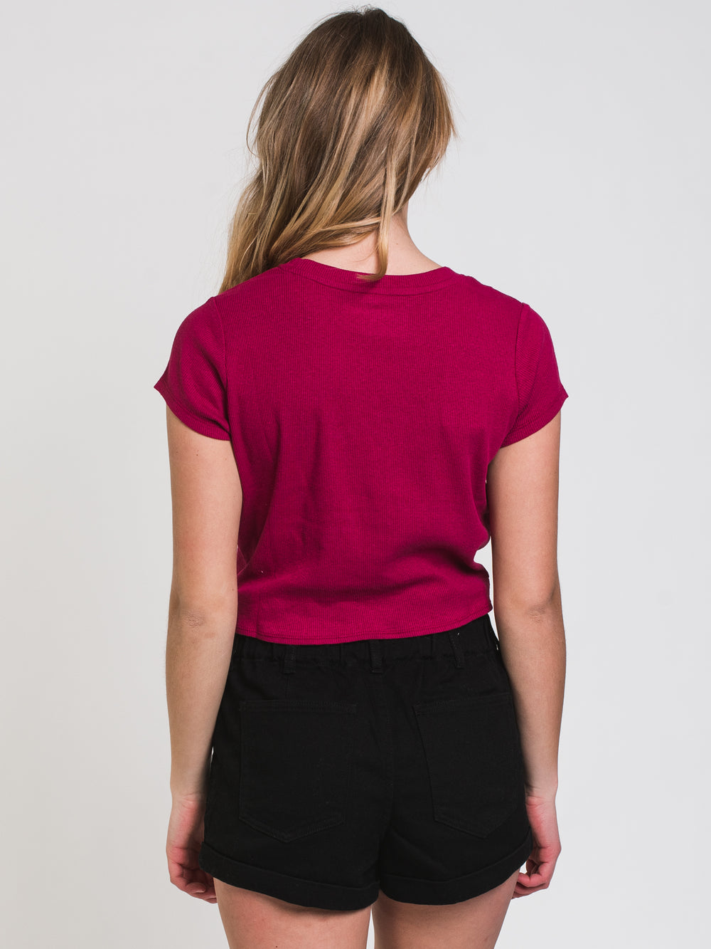 WOMENS EVERLY RIB TWIST TEE