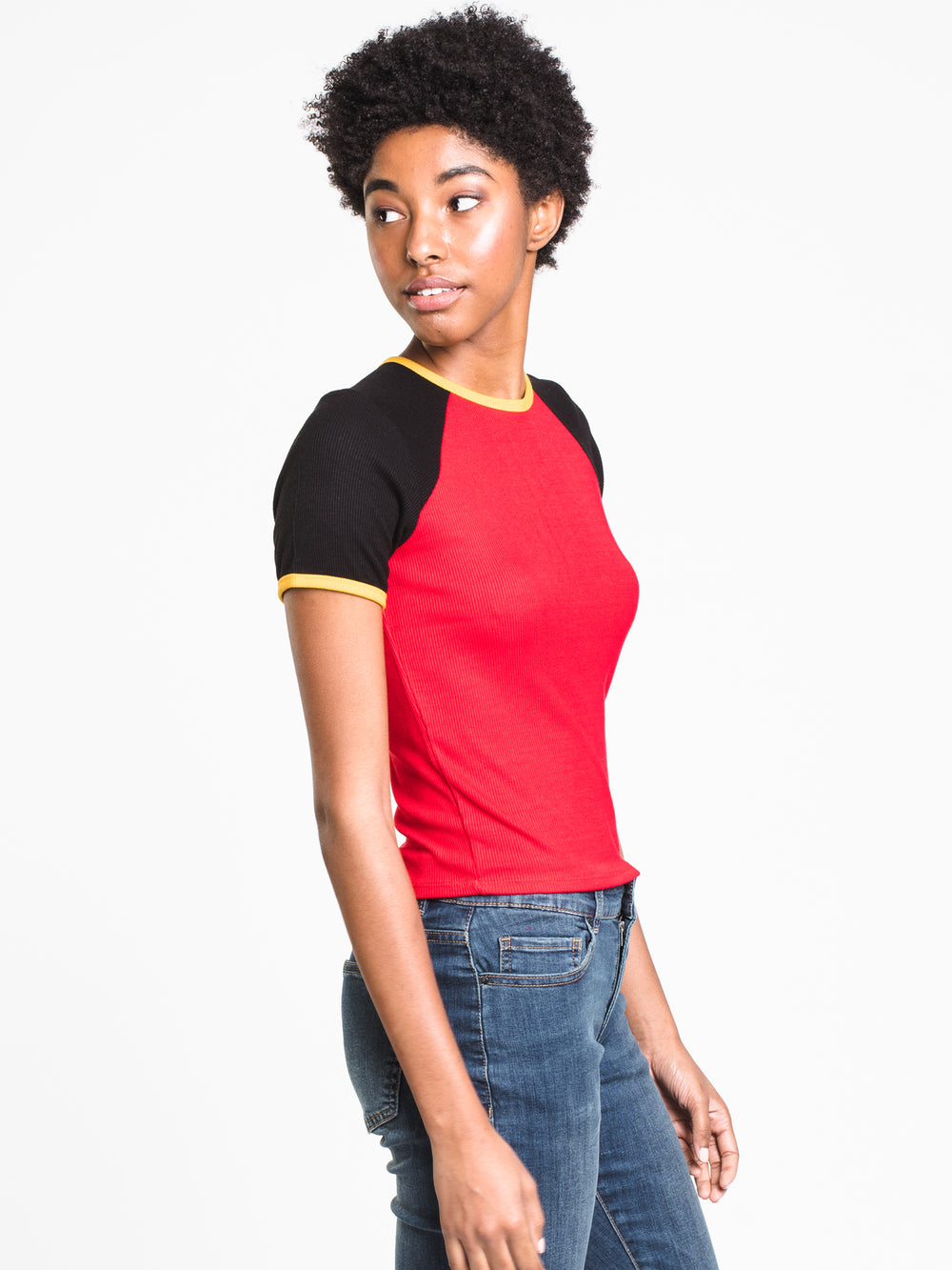 WOMENS SONIA RIBBED TEE