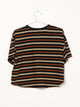 WOMENS PIPER BOXY STRIPE TEE