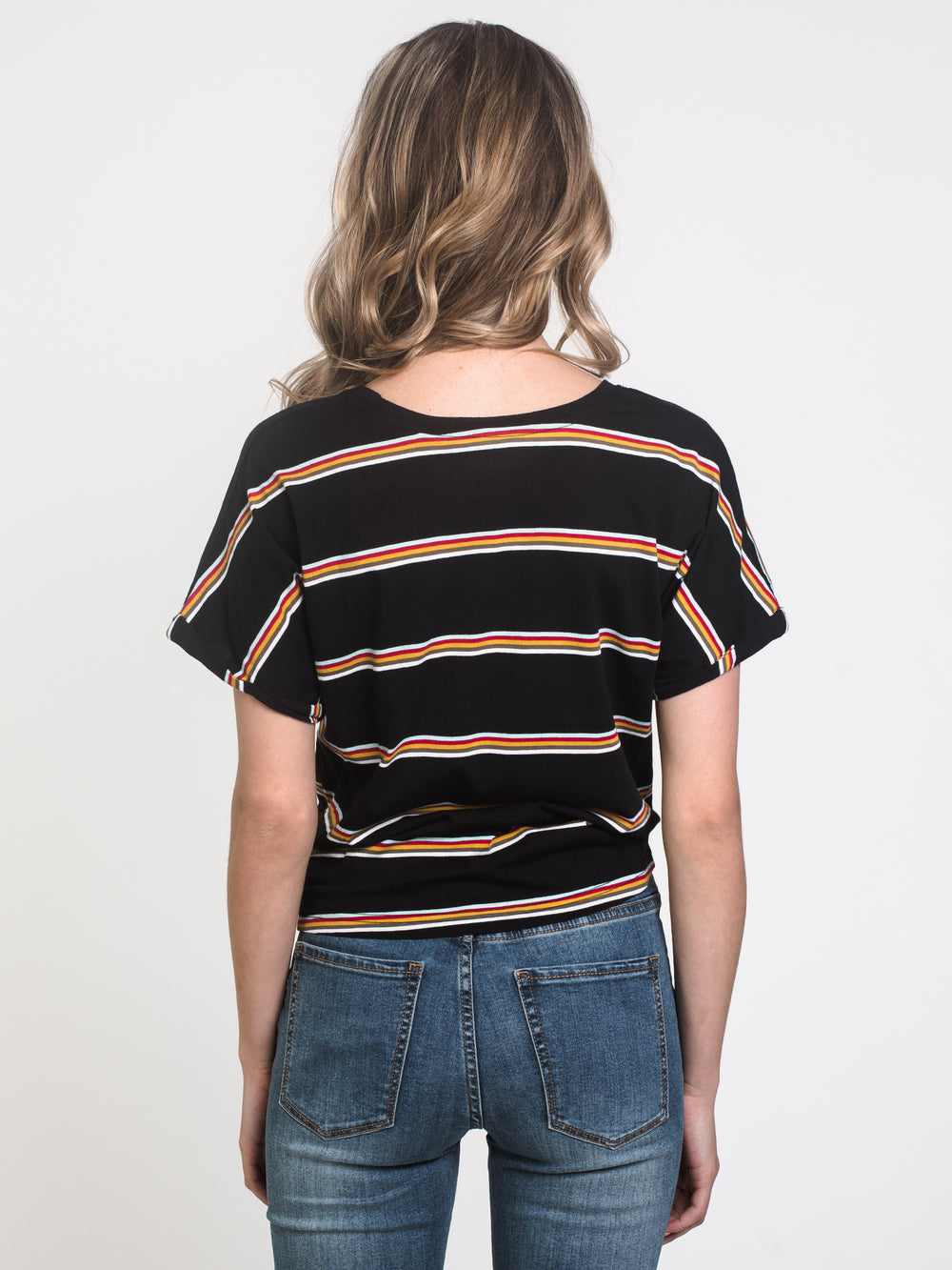 WOMENS LAYLA KNOTTED STRIPE TEE