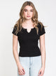 WOMENS ALLY NOTCH TEE
