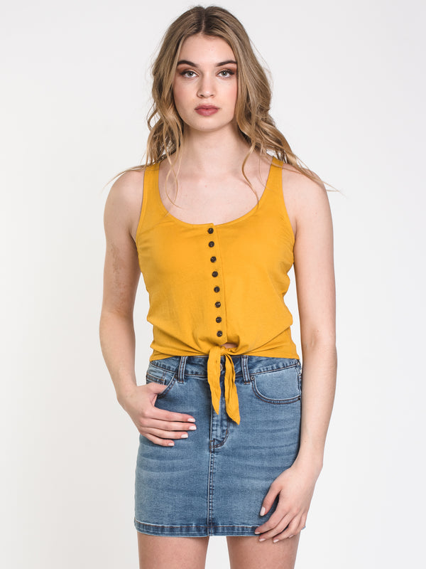 WOMENS ALICIA TIE UP SOLID TANK