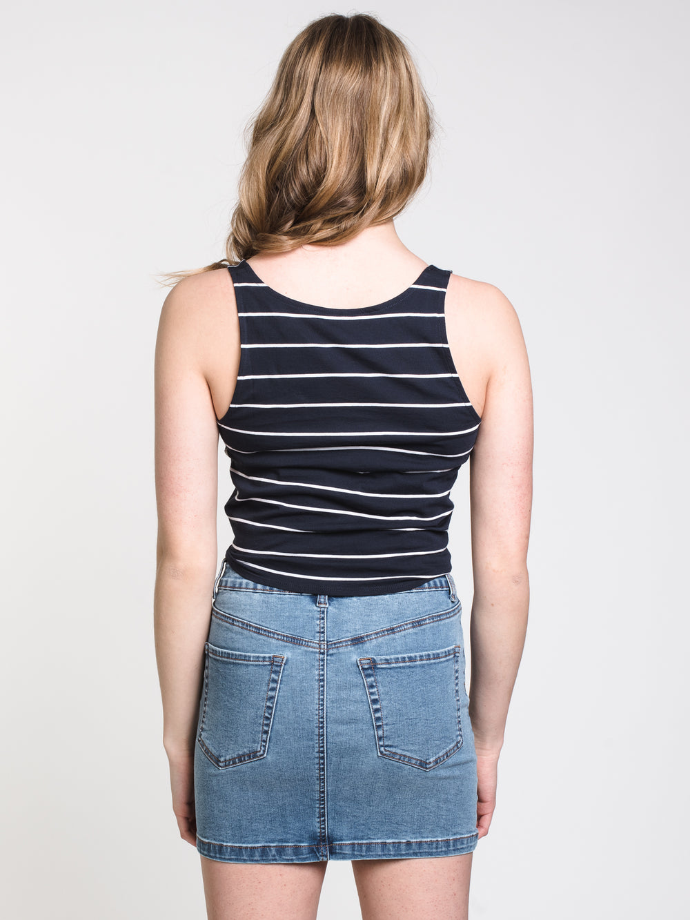 WOMENS ALICIA TIE UP STRIPE TANK
