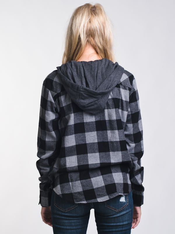 WOMENS KENZIE HOODED PLAID - CLEARANCE