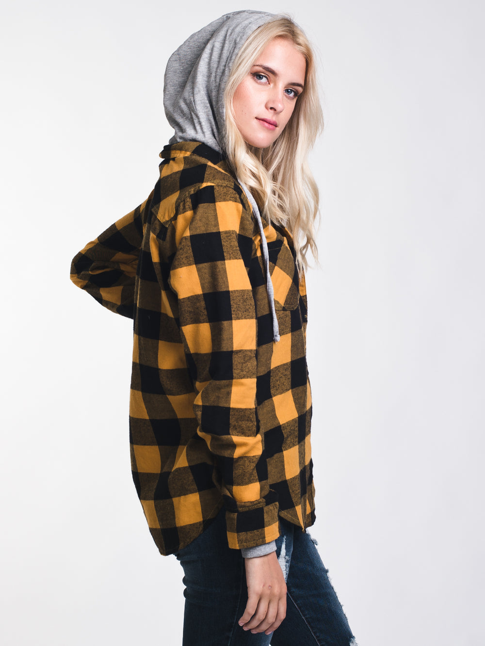 WOMENS KENZIE HOODED PLAID