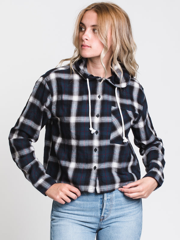 WOMENS MIA CROPPED PLAID