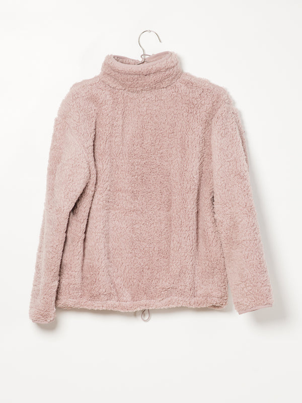WOMENS TEDDY SHERPA QUARTER ZIP