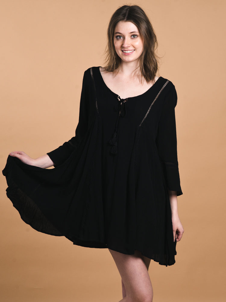 WOMENS WOMENS STELLA SOLID DRESS- CLEARANCE