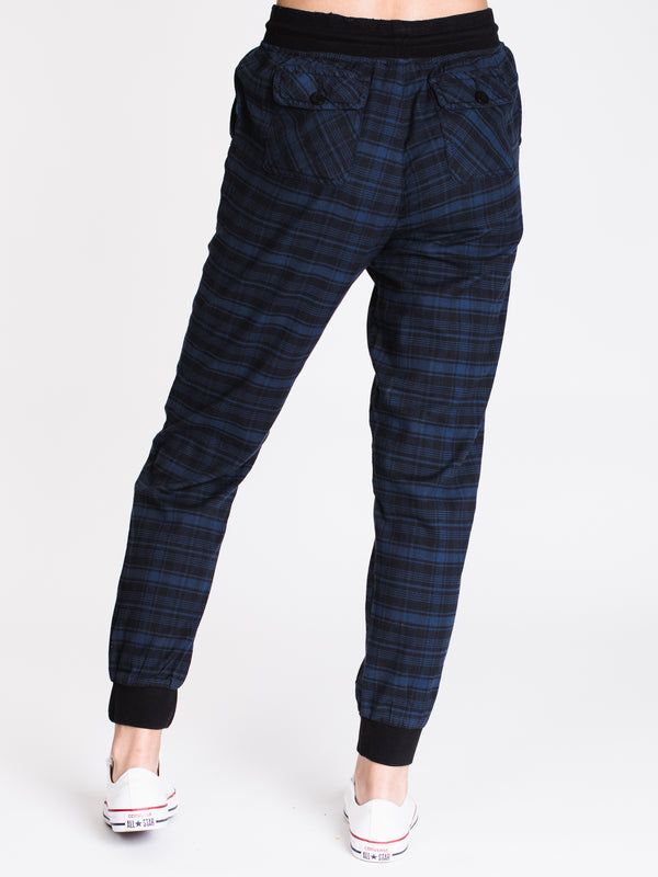 WOMENS CARGO JOGGER - PLAID
