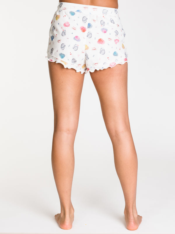 MISSY RUFFLE SHORT ALL OVER PRINT