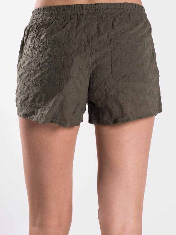WOMENS NORA EMBROIDERED SHORT - CLEARANCE