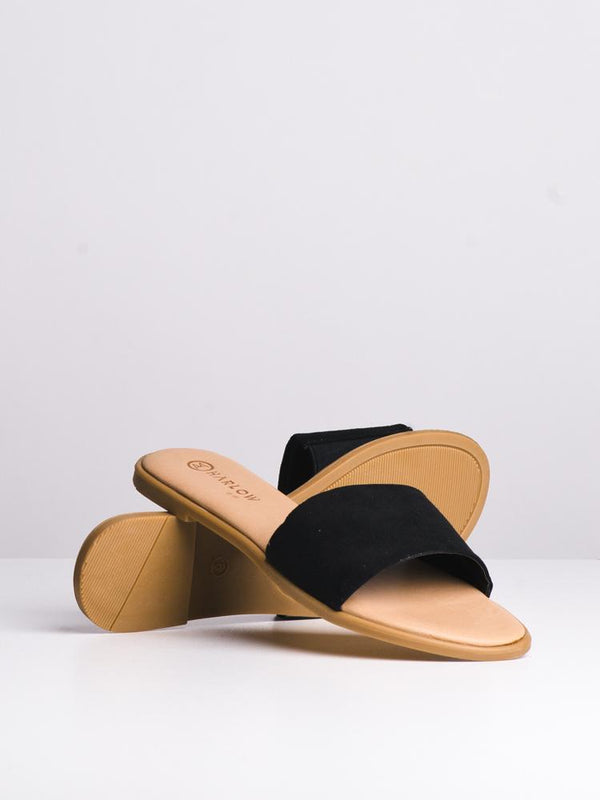 WOMENS WOMENS POLO BLACK SANDALS- CLEARANCE