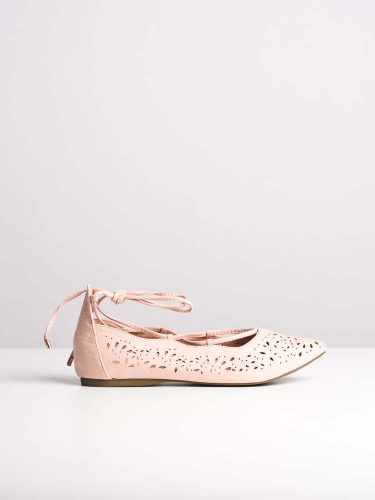 WOMENS GRACIE PINK FLATS