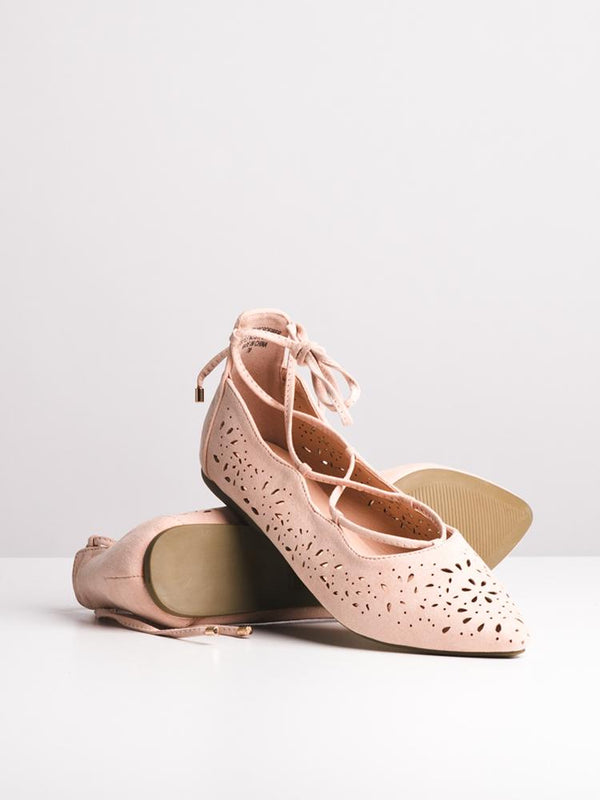 WOMENS WOMENS GRACIE PINK FLATS- CLEARANCE