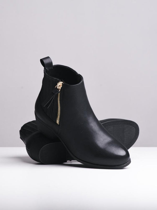 WOMENS WOMENS MAYA BLACK BOOTS- CLEARANCE