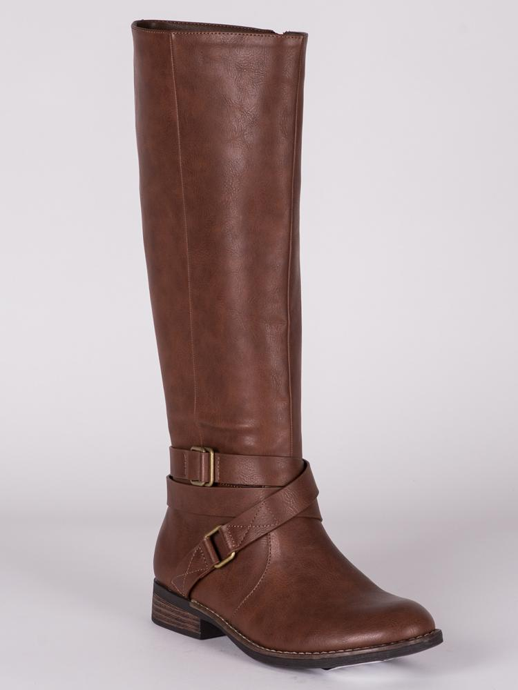 WOMENS CAMERON VEGAN LEATHER TALL BOOT  - CLEARANCE