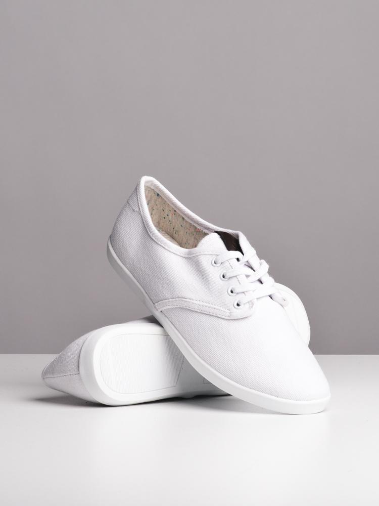 WOMENS WILLA WHITE CANVAS SHOES