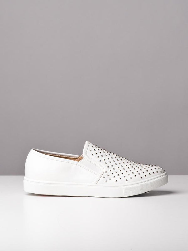 WOMENS WOMENS GEMMA WHITE SNEAKERS- CLEARANCE