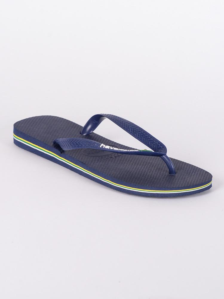 MENS BRAZIL LOGO NAVY BLUE SANDALS- CLEARANCE