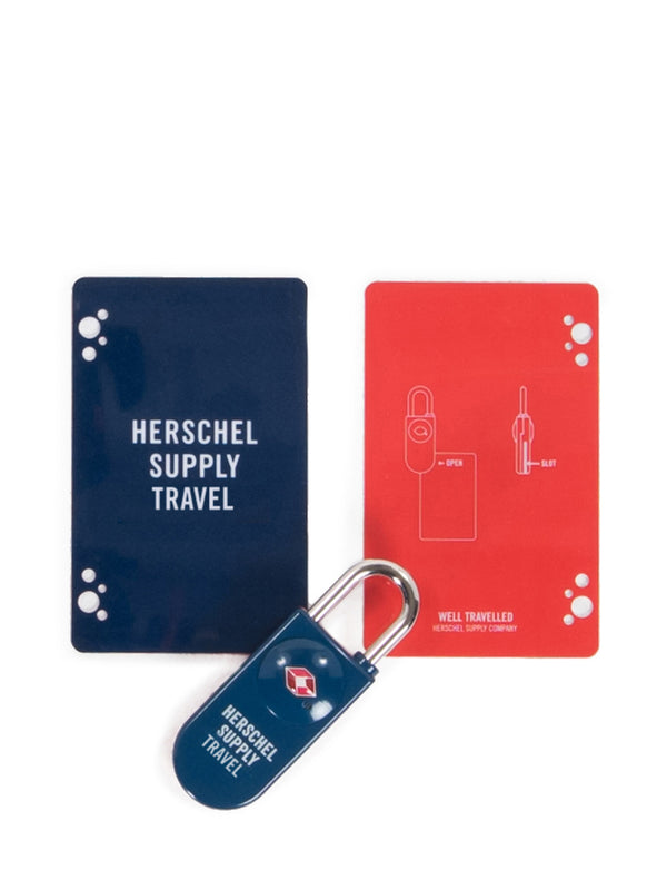 TSA LOCK - NAVY/RED