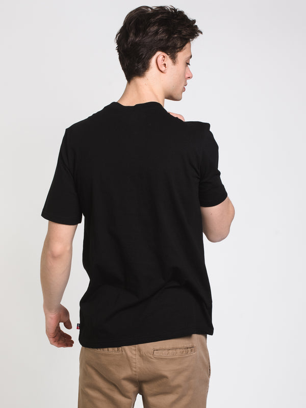 MENS GRAPHIC SHORT SLEEVE T-SHIRT- BLACK/BLACK