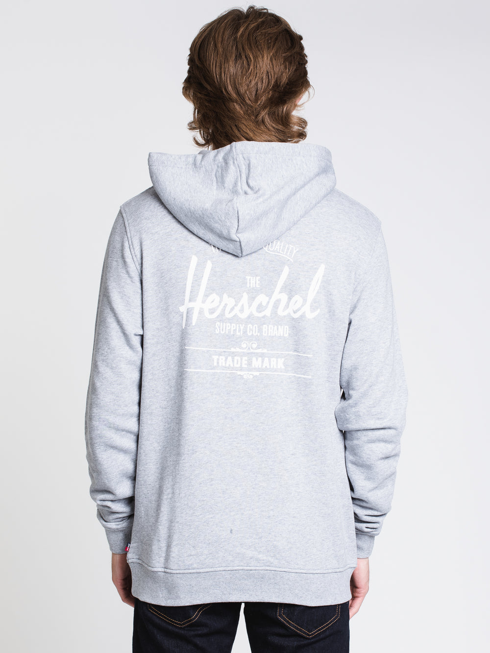 MENS CLASSIC LOGO PULLOVER HOODIE- GREY