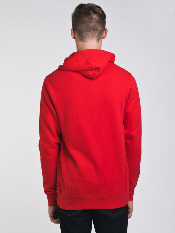 MENS NATIONAL PULLOVER HOODIE- SCARLET - CLEARANCE