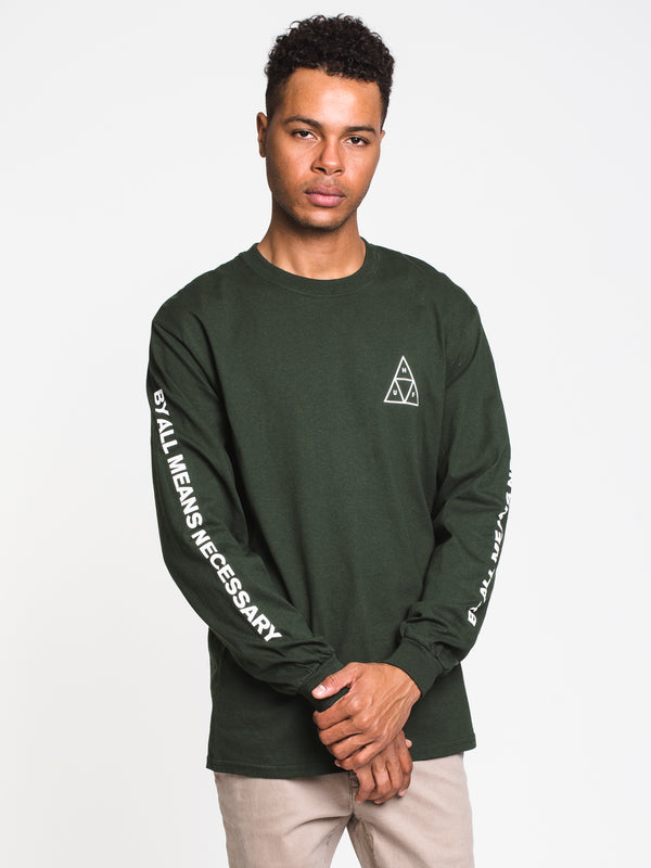 MENS ESSENTIALS TT LONG SLEEVE T- FOREST