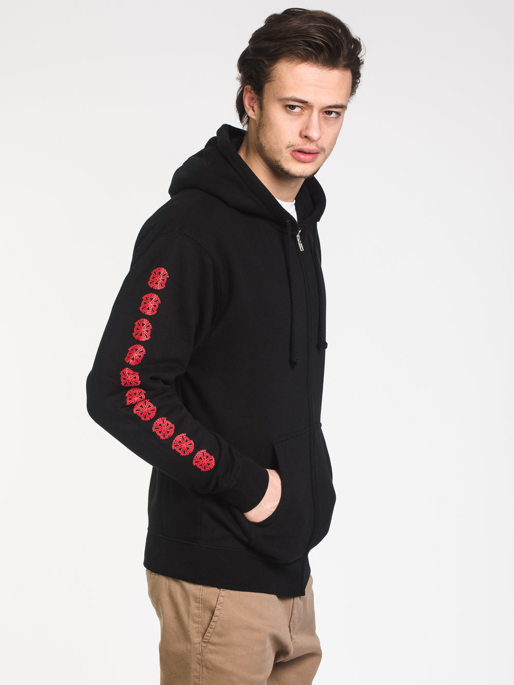 MENS BAUHAUS CROSS FULL ZIP - BLACK