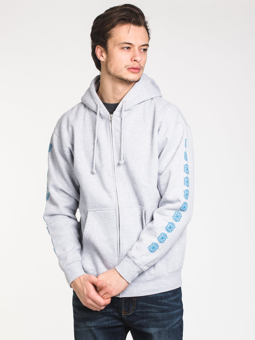 MENS BAUHAUS CROSS FULL ZIP - HTHR GREY