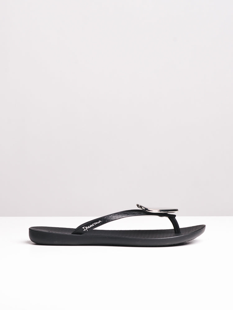 WOMENS MAXI FASHION II BLACK SANDALS- CLEARANCE