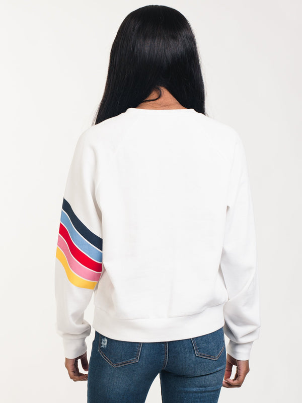 WOMENS JUICY RAINBOW TERRY CREWNECK