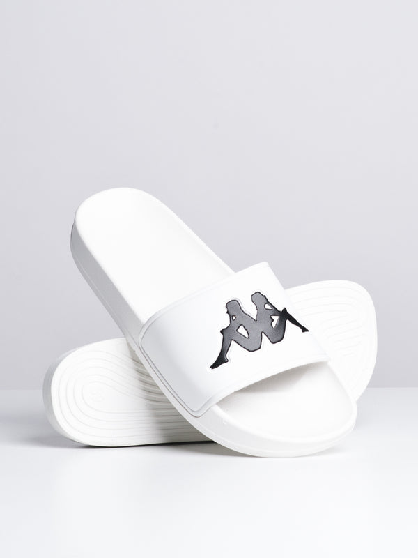 WOMENS AUTH ADAM 2 SLIDE - WHT/BLK - CLEARANCE