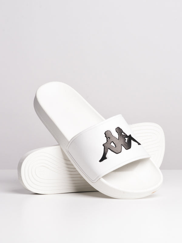 MENS AUTH ADAM SLIDE 2 - WHT/BLK